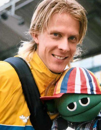 ….Christian Olsson, trestegshopparen Stefan Holm