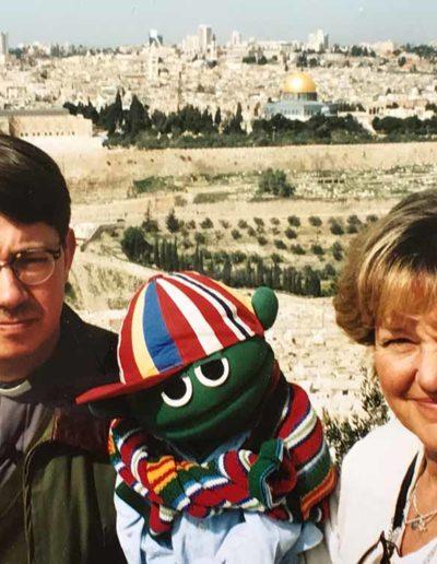 Vid ett av våra besök i Jerusalem tillsammans med min kompis biskop Jan-Olof Johansson